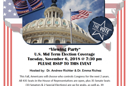 Poster for the event featuring a picture of the US Capitol Building.