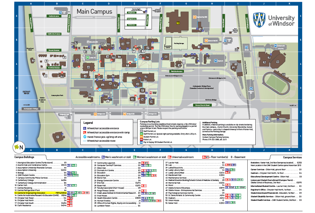 university of windsor campus map Whereabouts Pom Research Lab