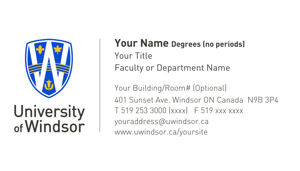 Business card order form university print shop sample business card sample uofw template accmission Gallery