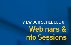 Webinar & info Session schedule - graphic button