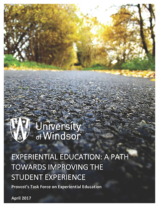 A thumbnail image of the UWindsor Experiencial Education study's formal front cover