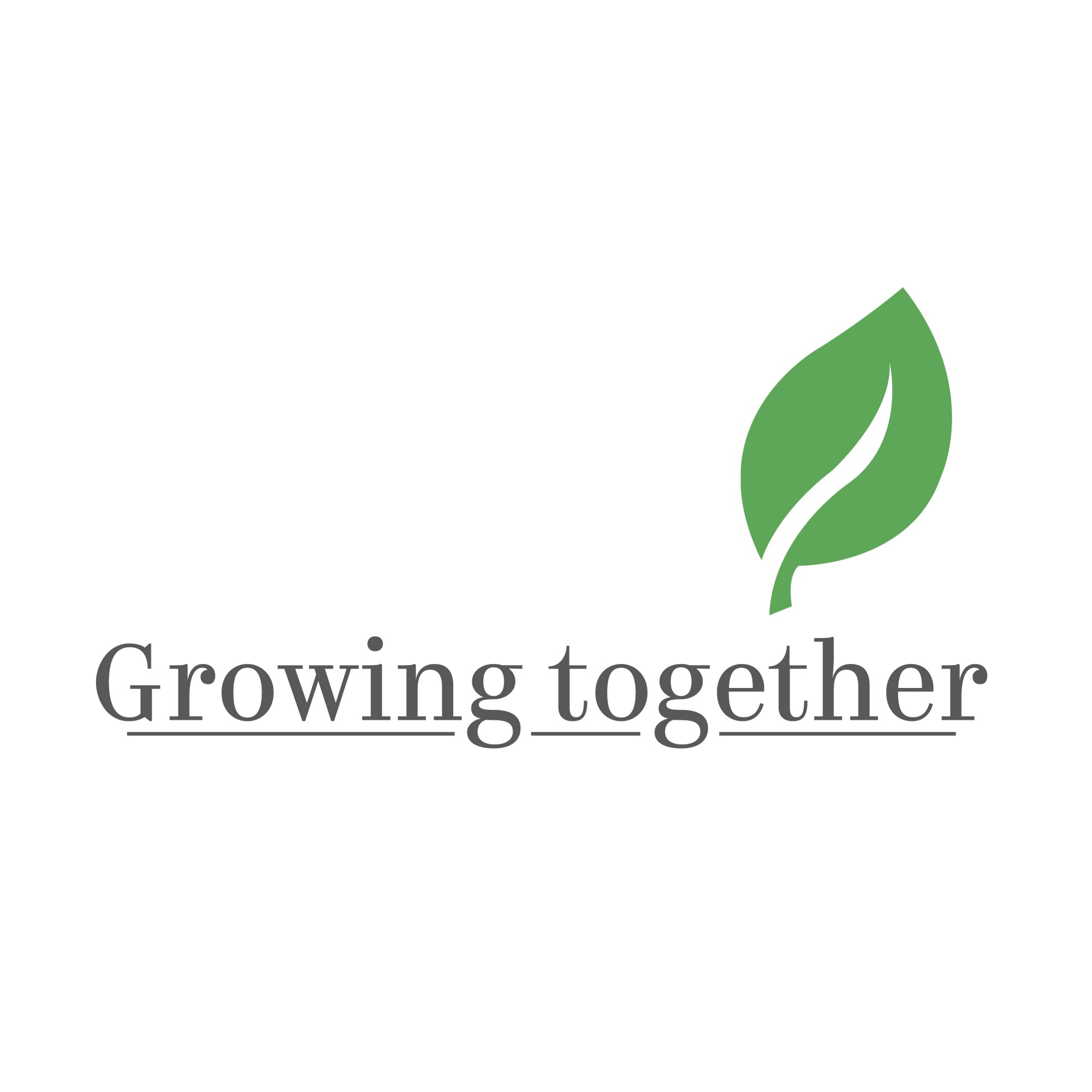 Logo with text: Growing Together logo