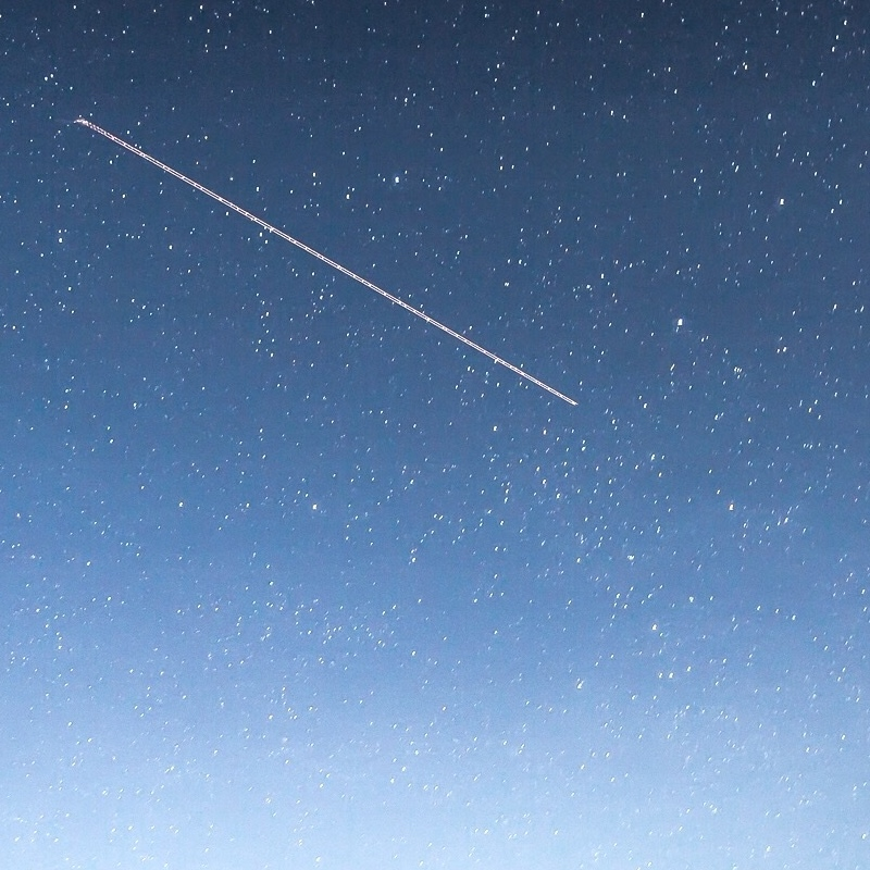 File photo of a shooting star against a night sky