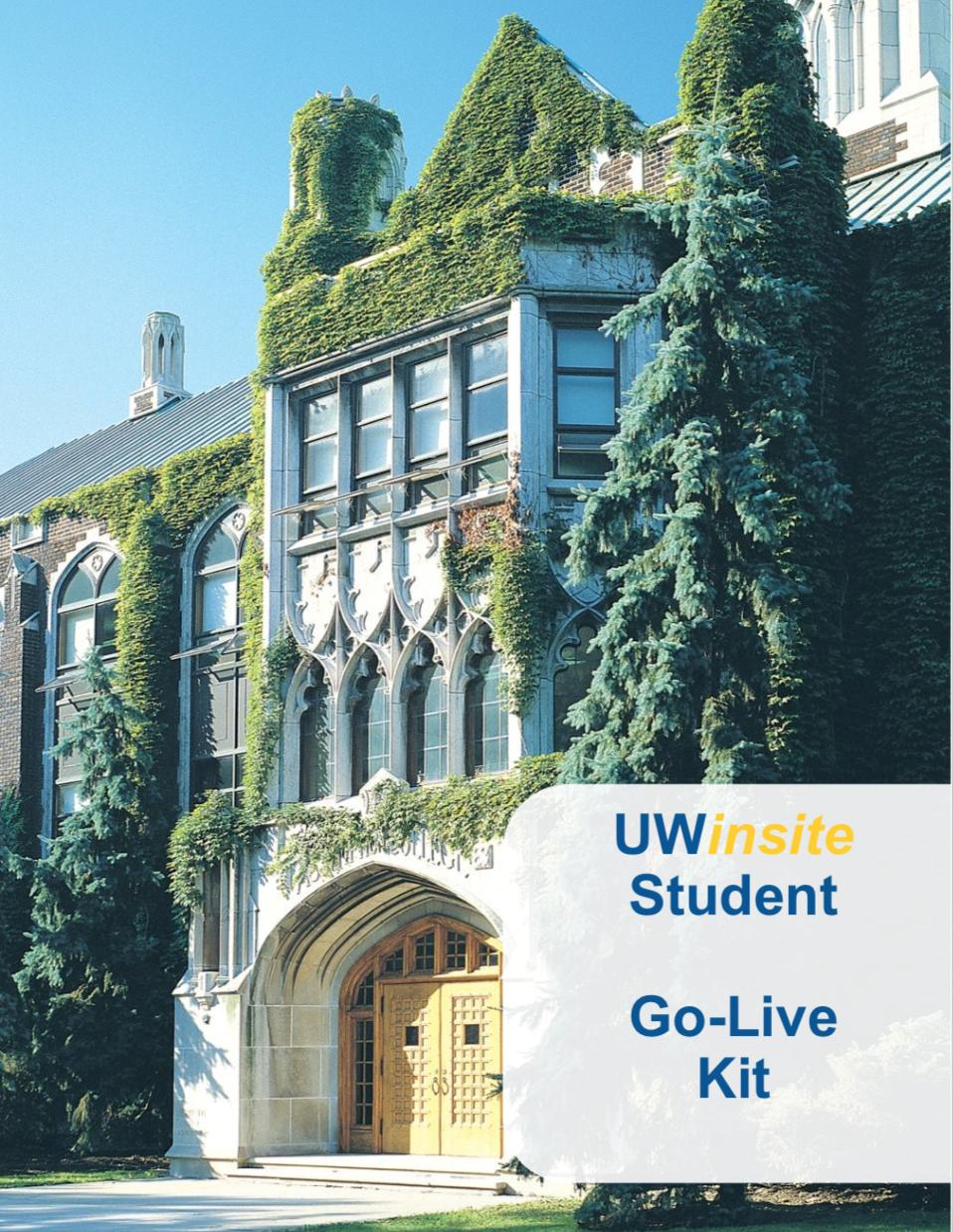 UWinsite Student - Basics