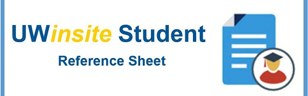 UWinsite Student Reference Sheet: Download Your Schedule
