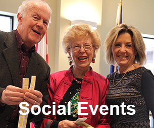 David Palmer, Mary-Lou Drake and friend - Social events