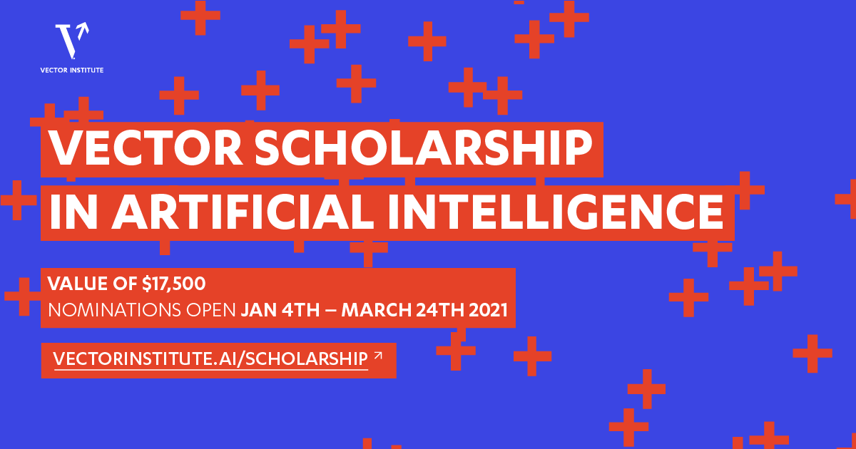 Vector Scholarship in Artificial Intelligence banner for 21-22 scholarship