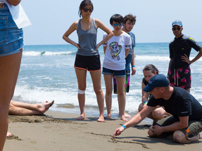 Exchange Students field work on the Beach in Costa Rica