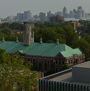 campus shot from above