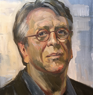 painted portrait of Hans Hansen