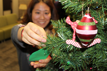 Treetrimming party gives overseas students a taste of Canada