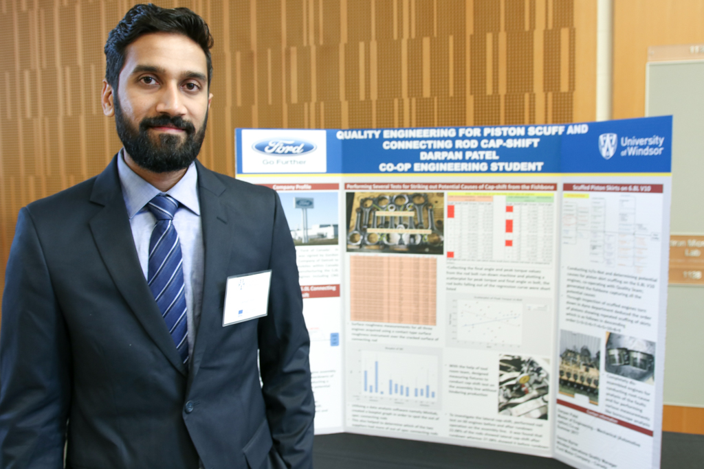 M.Eng student Darpan Patel completed his co-op placement at the Ford Motor Company of Canada.