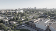 View of UWindsor from a drone