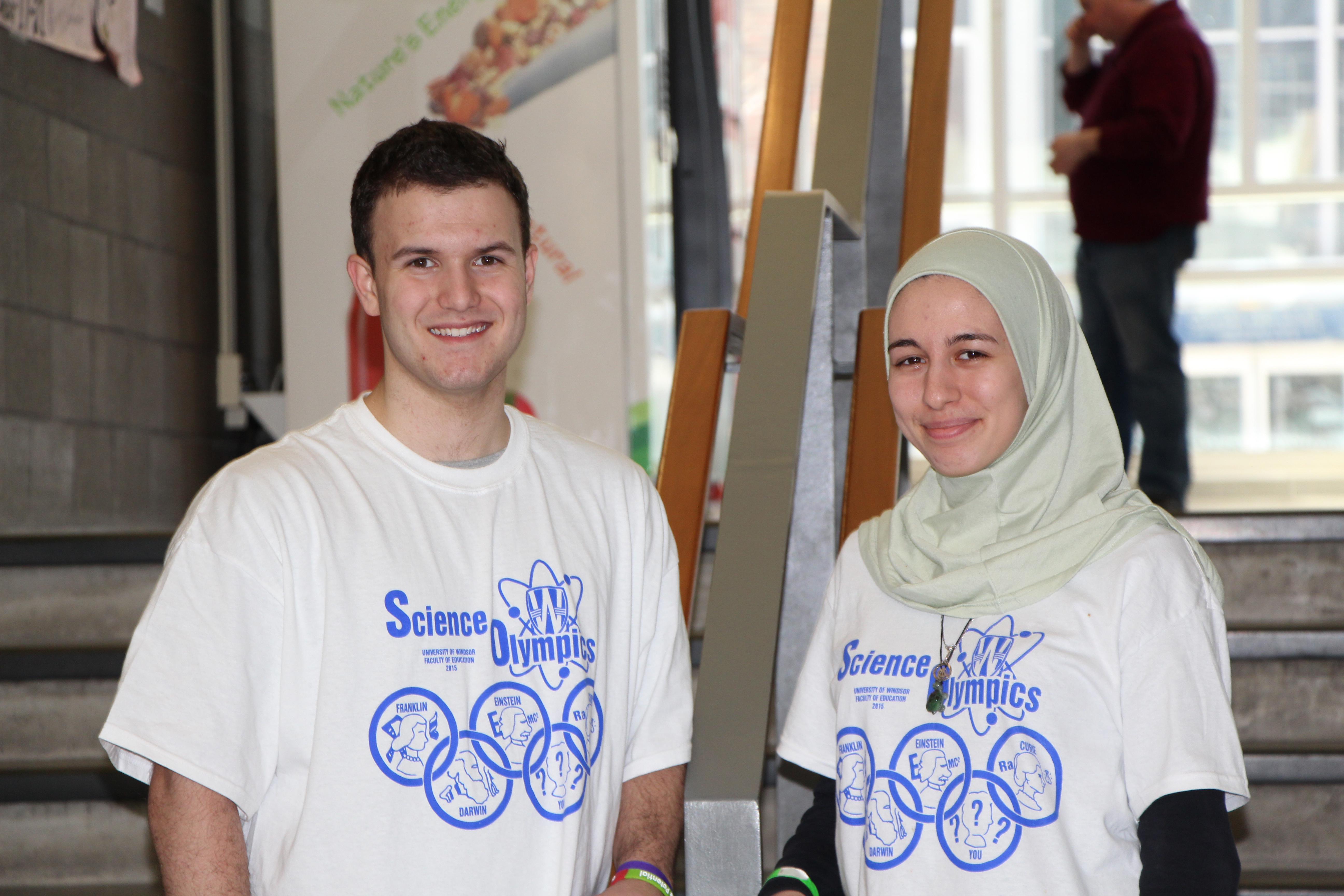 Maha Hammoud, L'Essor high school and Alex Popovic, Massey high school, two ambitious science students who competed in Science Olympiad.