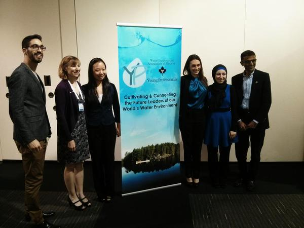The team of Amal Ghamrawi, Ruoshi (Rose) Zhao, Tania Farah and David Tran, walk away with top honours at the Water Environment Association of Ontario (WEAO) Student Design Competition held recently in Toronto.