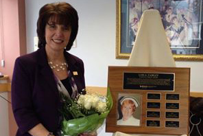 New Nursing sessional, Rita DiBiase ( BSN '96) received a Community Service Nursing Award. Photo credit:Aldo