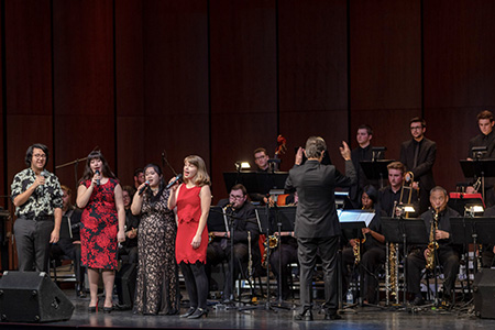 University Jazz Ensemble and Singers, Robert Fazecash, director