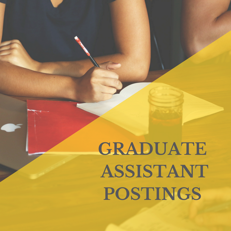 Graduate Assistantships link showing students working