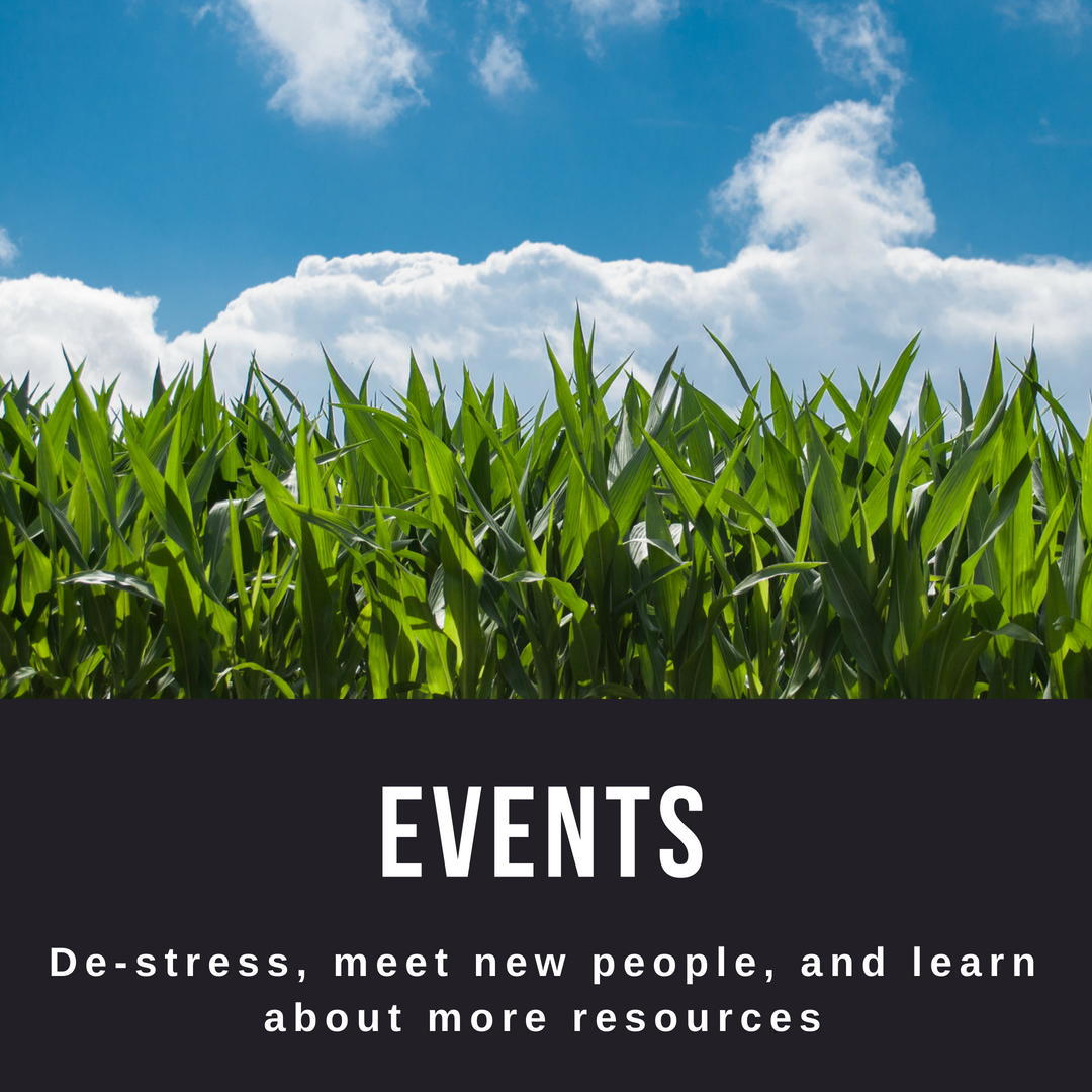 Events - De-stress, meet new people, and learn more about resources through our events