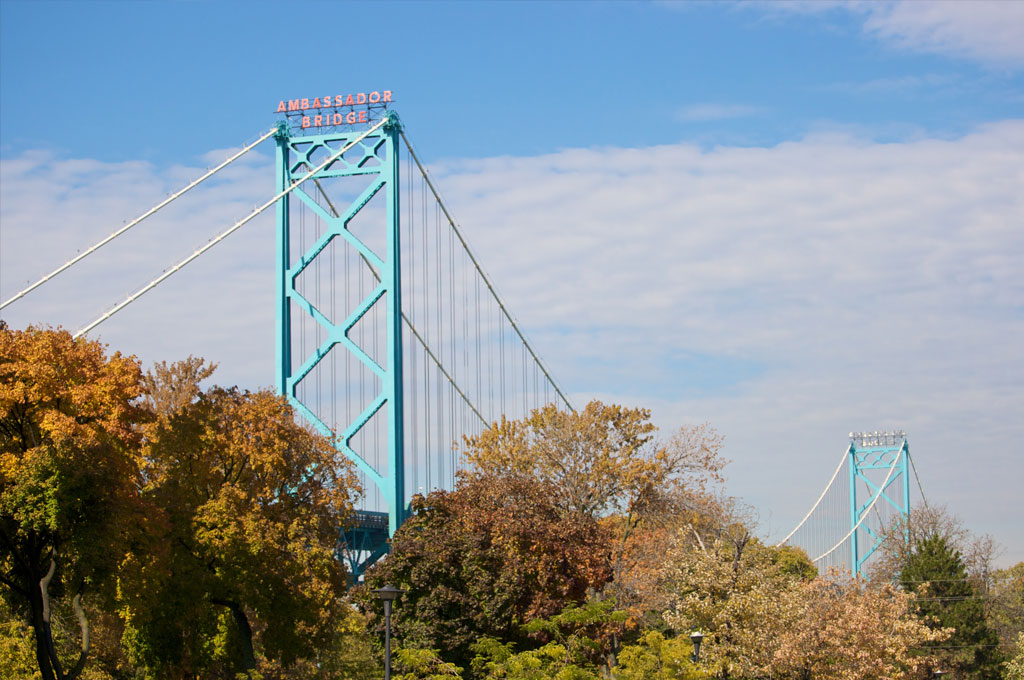 Ambassador Bridge - Windsor, Ontario side