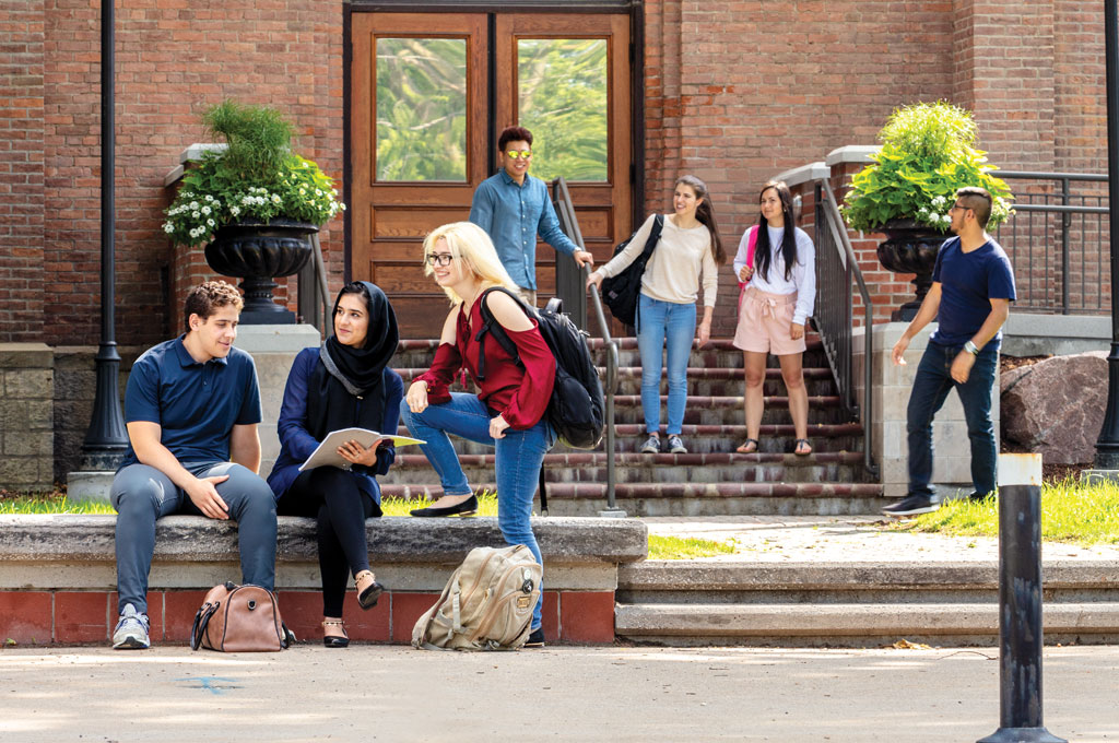 Students outside Assumption