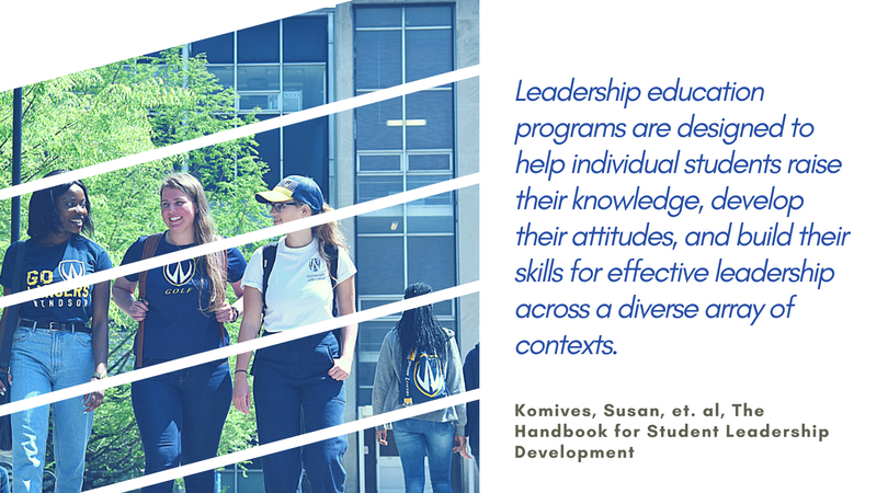 Leadership education programs are designed to help individual students raise their knowledge, develop their attitudes, and build their skills for effective leadership across a diverse array of contexts. - Komives, Susan, et. al, The Handbook for Student Leadership Development