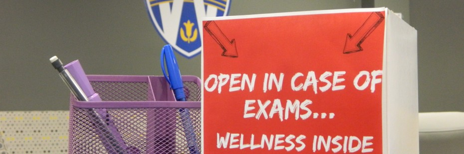 Wellness Box In front of UWindsor Logo