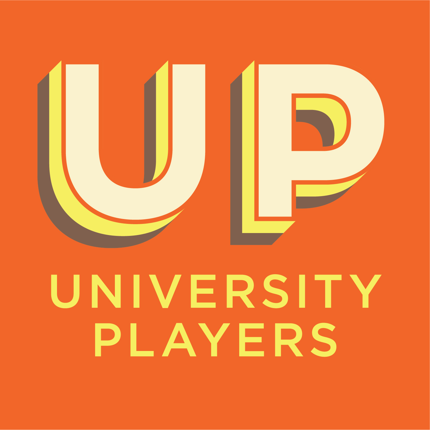 University Players Logo in Orange