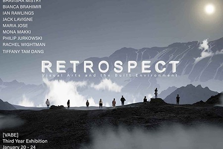 Poster for Retrospective, the 3rd Year VABE Student exhibition for 2020