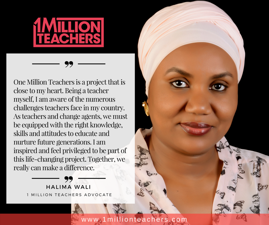 Teacher Halima Wali says that One Million Teachers is close to her heart.