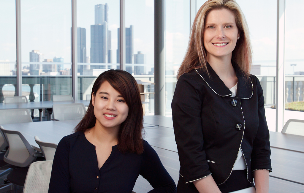 Melissa Yue Li and Anita Bondy of the Centre for Executive and Professional Education (CEPE).