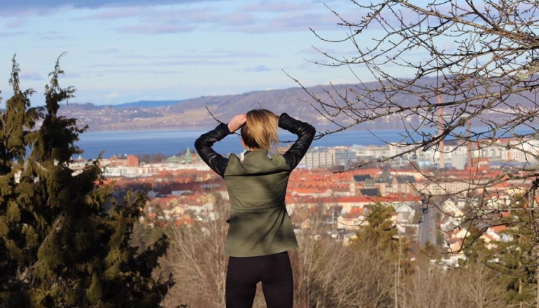 University of Windsor alumna Lauren Oakley is shown while she was on exchange in Sweden.