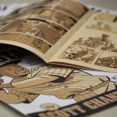 A comic book is shown.