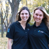 Julia Borsatto, clinical neuropsychology graduate student, and Faculty of Science graduate Laura Pineault.