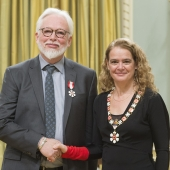 Order of Canada inductees and UWindsor graduates Gordon Smith and Julie Payette.