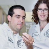 Dr. Simon Rondeau-Gagne and Dr. Tricia Carmichael