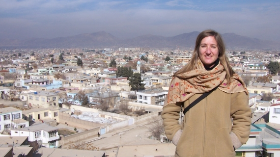 Windsor law grad Ele Pawelskiis shown in Afghanistan.