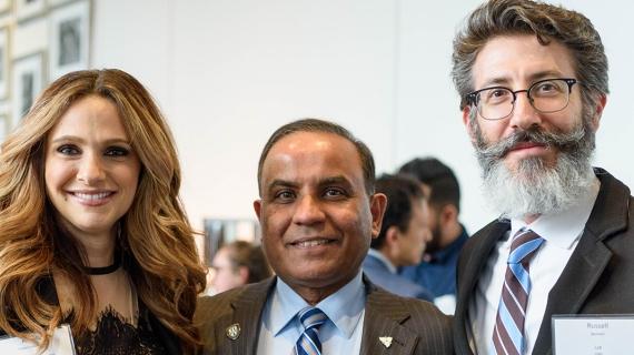 From left: Angela Tartaro-Flowerday BComm '95, Arun Mathur BComm '76, Russell Bennett LLB '95
