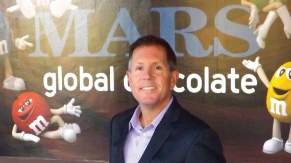 Jim Murphy is shown at Mars Global Chocolate's headquarters.