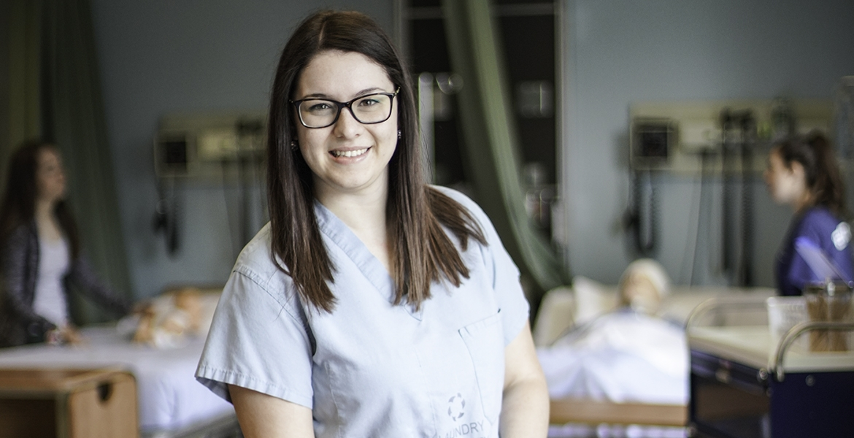 Elizabeth Dillon in hospital setting