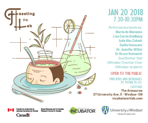 Poster for the Feasting the Lab event