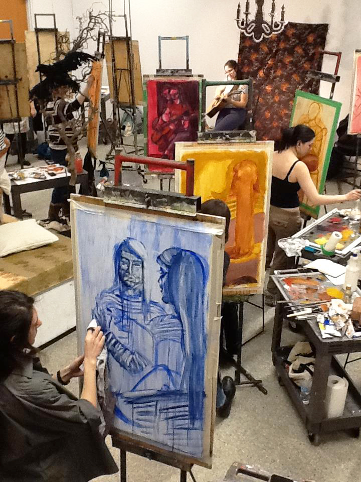 Painting and Drawing studio with Prof. Lisa Baggio