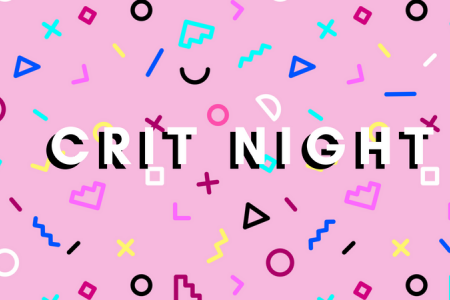 Critique Night for artists open to students and the community