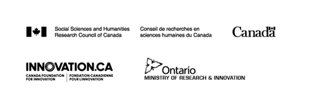 logos for the Social Sciences and Humanities  Research Council of Canada, the Canada Foundation for Innovation, and the Ontario Ministry of Research and Innovation