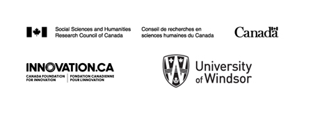 logos for the Social Sciences and Humanities  Research Council of Canada, the Canada Foundation for Innovation,  and the University of Windsor
