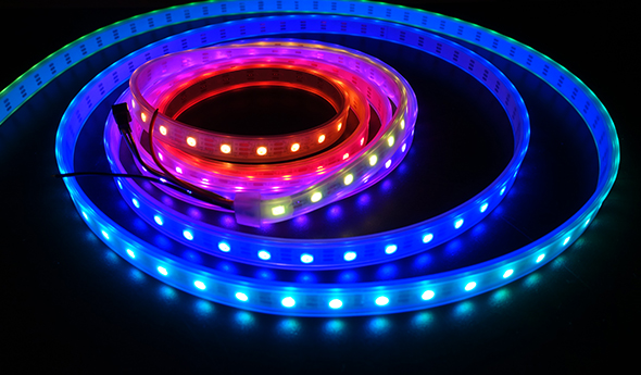 detail of a strip of LED lights