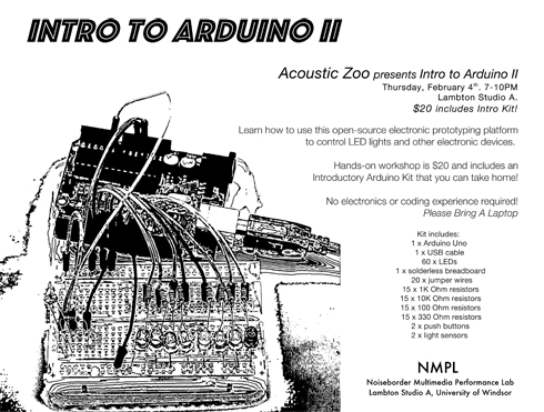 poster announcing the arduino 2 workshop
