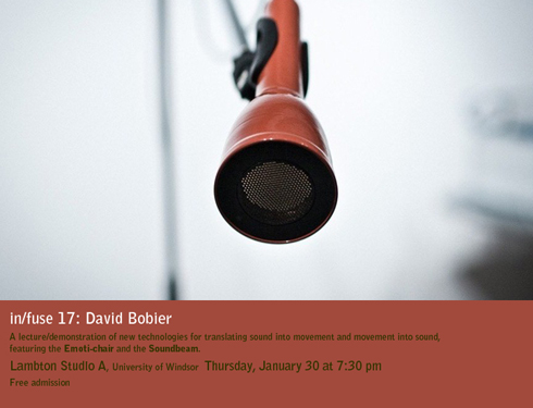 in/fuse 17: David Bobier -- translating sound into motion and vice versa