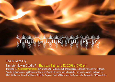 poster for too blue to fly by sigi torinus
