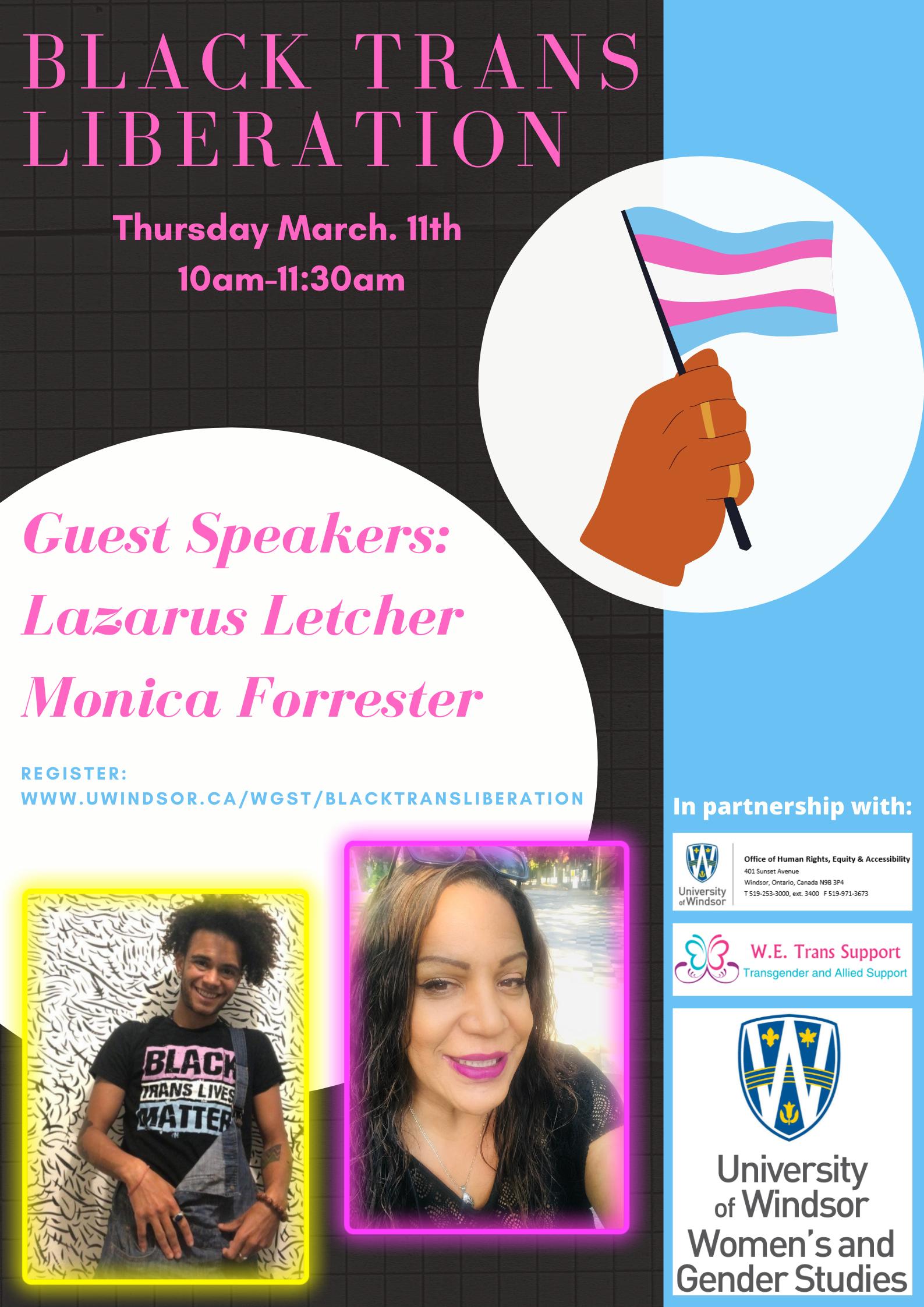 Black Trans Liberation Event Flyer